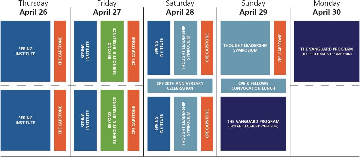 2018 Summit Schedule Overview